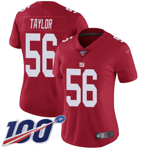 Nike Giants #56 Lawrence Taylor Red Women's Stitch buy nfl ...