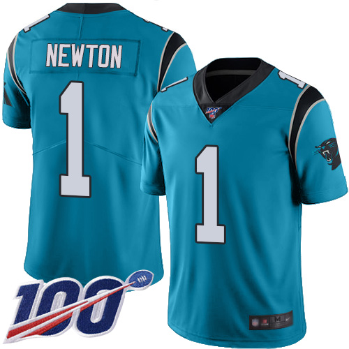 Nike Panthers #1 Cam Newton Blue Men's Stitched NF wholesale nfl ...